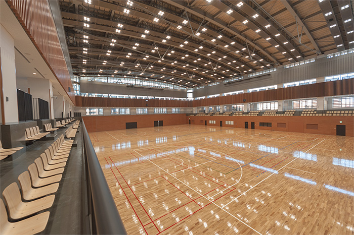 港区スポーツセンターのアリーナ