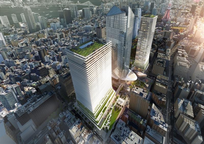虎ノ門ヒルズビジネスタワーの鳥瞰図