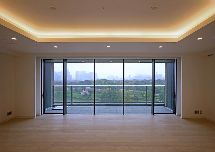 ザ・パークハウス グラン千鳥ヶ淵の室内からの眺望
