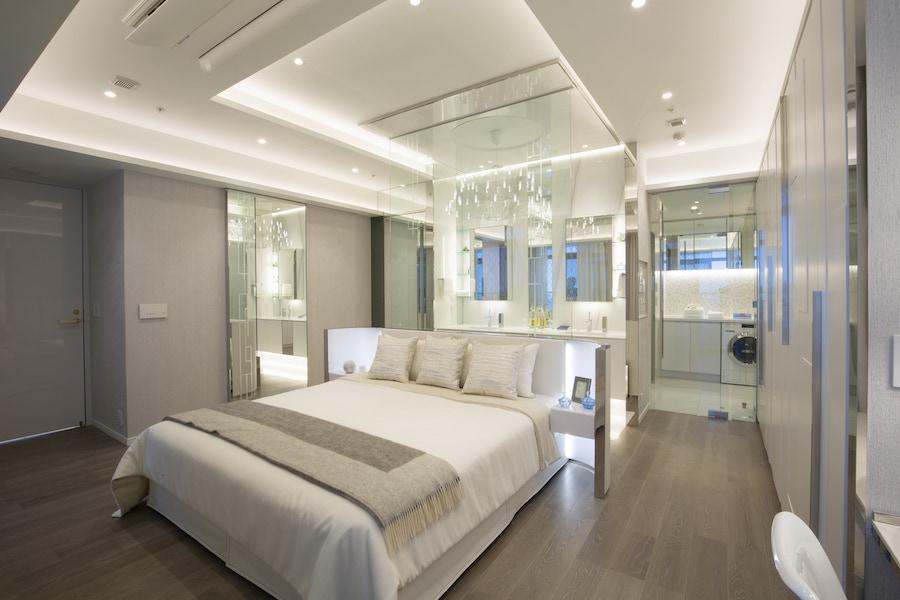 ブランズタワー芝浦125Bタイプのモデルルームのベッドルーム